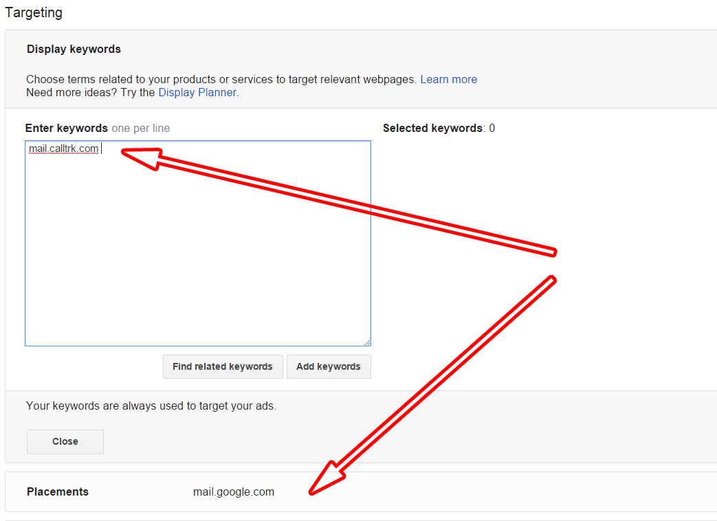 Adding Domain to AdWords for Targeting