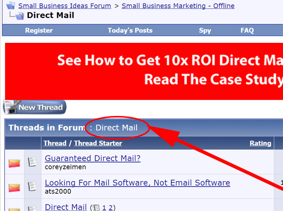 Placing Your Ad on Strategy/Info Subforums