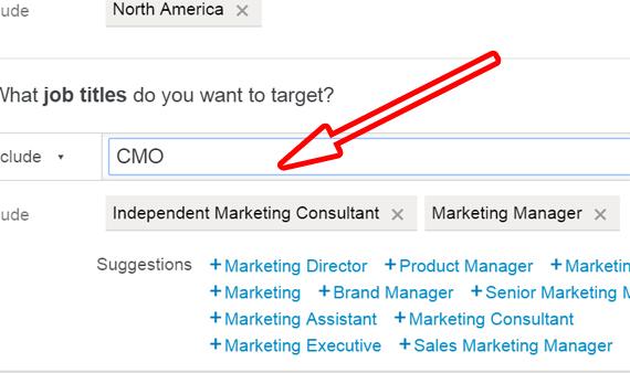 Target Job Titles on LinkedIn