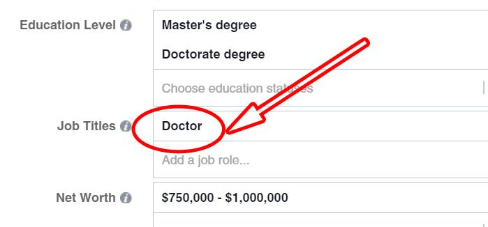 Target Job Titles on Facebook