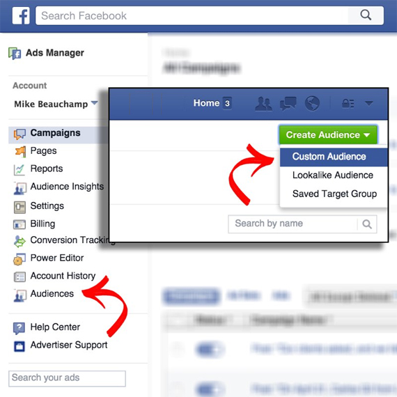 Facebook Using the List Upload Feature