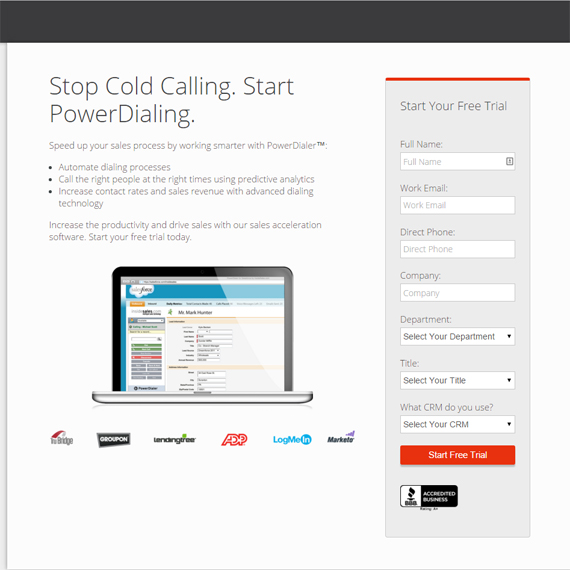 Sell Landing Page For Immediate Opt-In