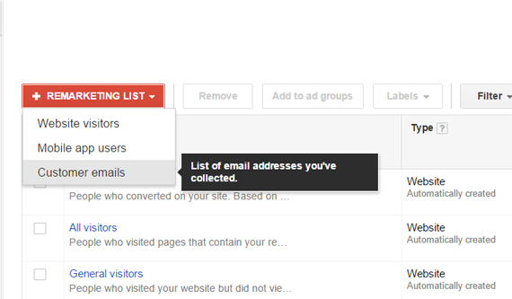 List Targeted Campaigns on AdWords
