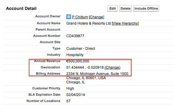Finding The Customers Location By Crawling CRM Database