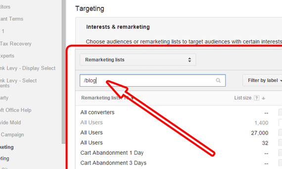"Importing ""Knowledge Base"" Audience Into AdWords Search Campaigns"