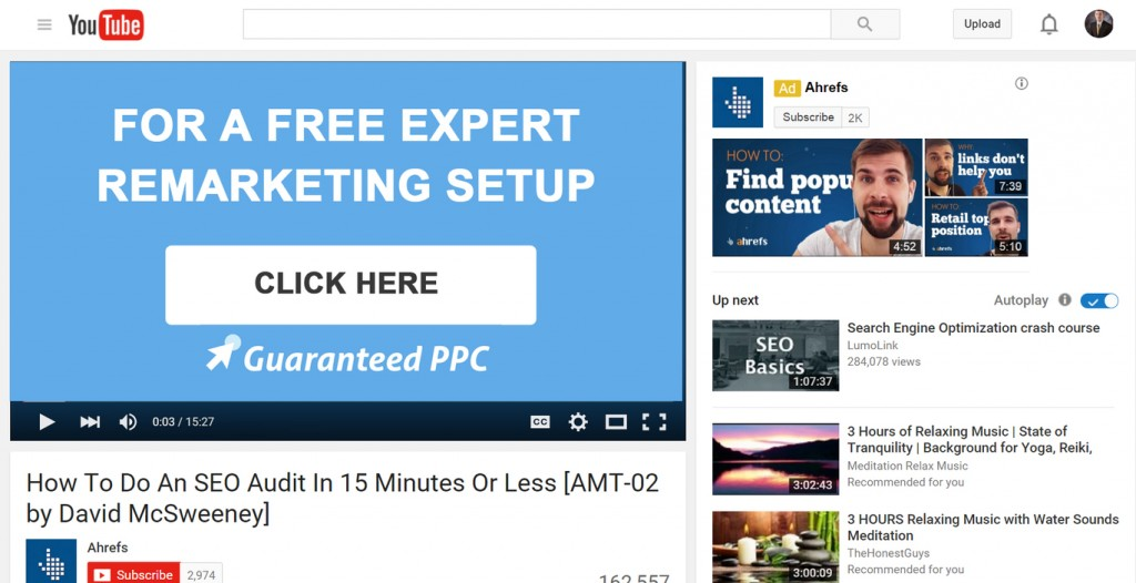 How to do an SEO Audit in 15 minutes or Less Youtube video with Clickable Link