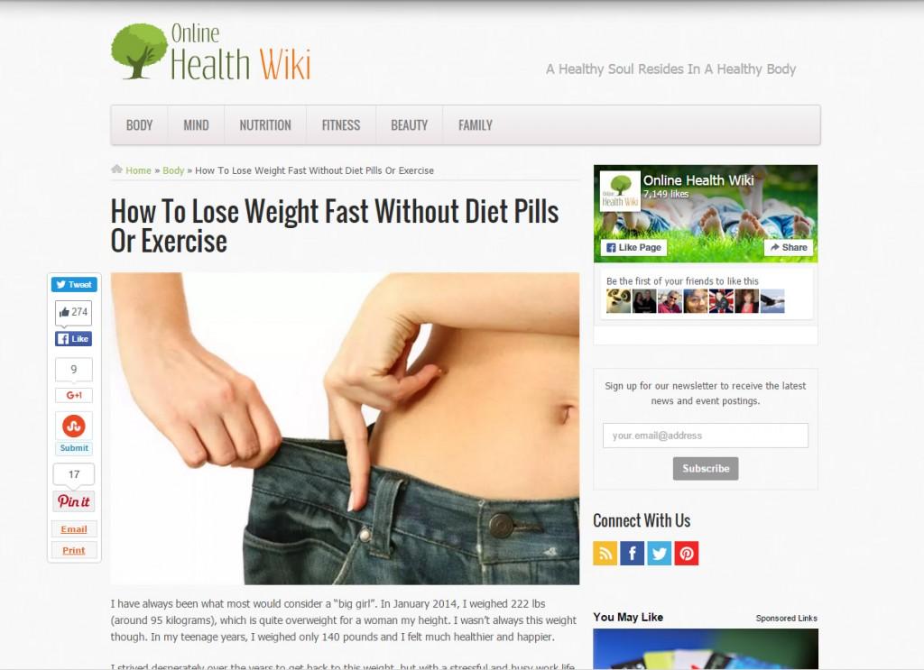 Pre-lander Diet Ad