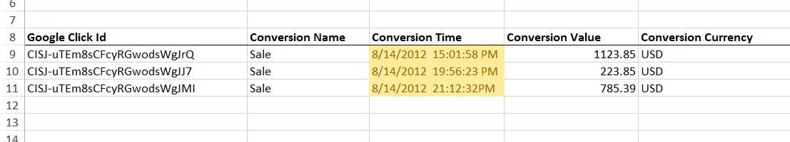 Pluggin In The Conversion Value