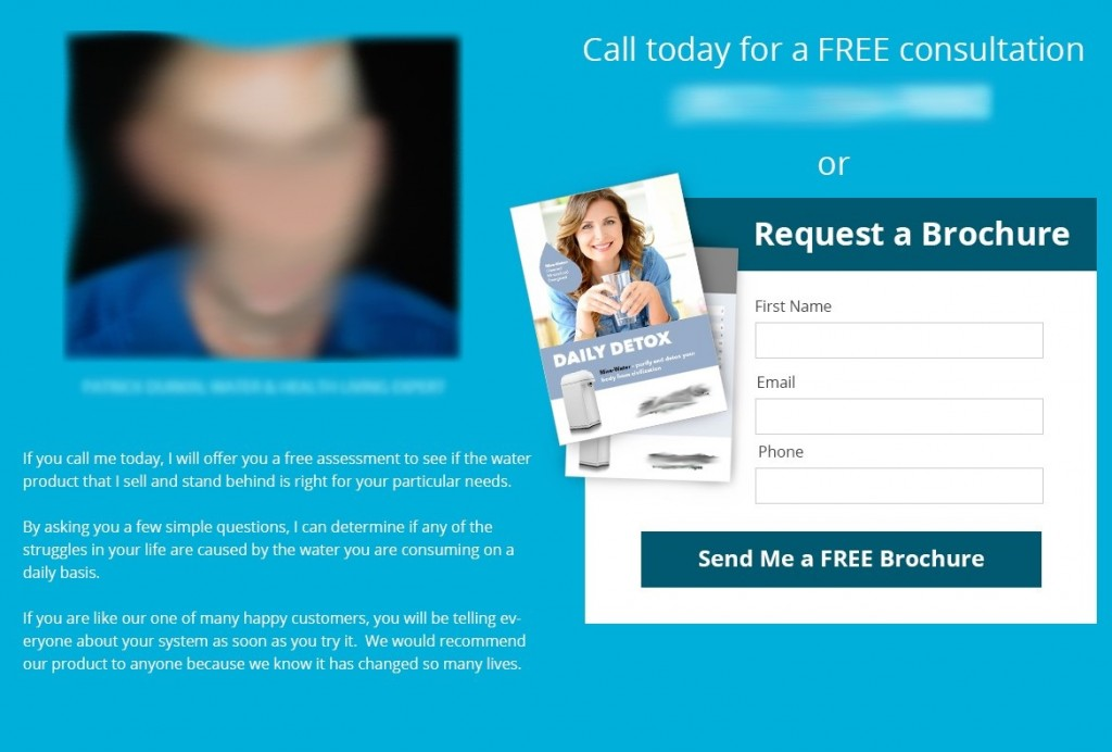 Asking prospects information o gain access to a full product brochure