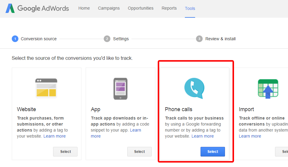 Setting Up Conversion Tracking for client's AdWords campaign