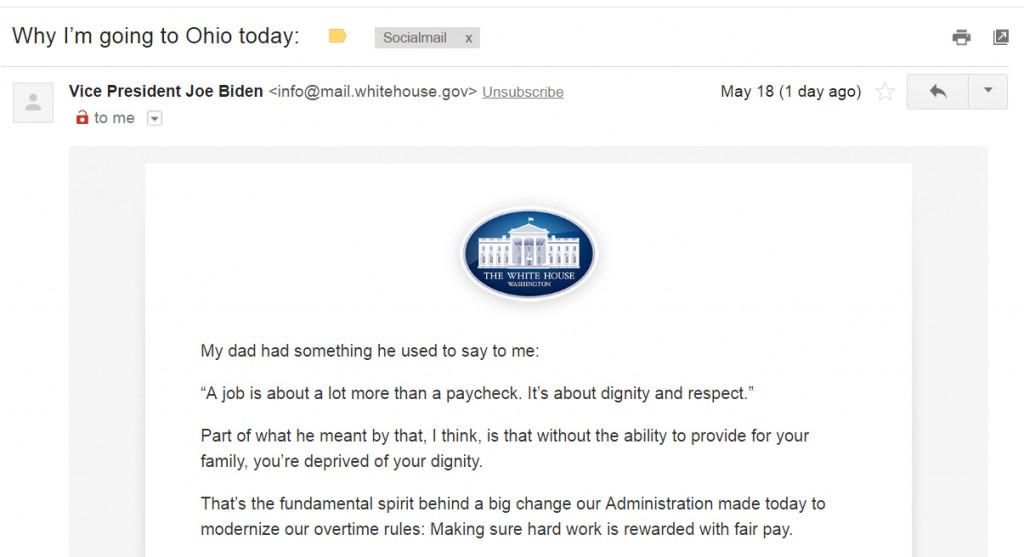 Autoresponder Sequence Example #1: Whitehouse.go (2)