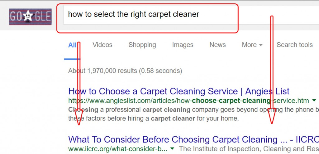 Google Search about Carpet Cleaner (1)