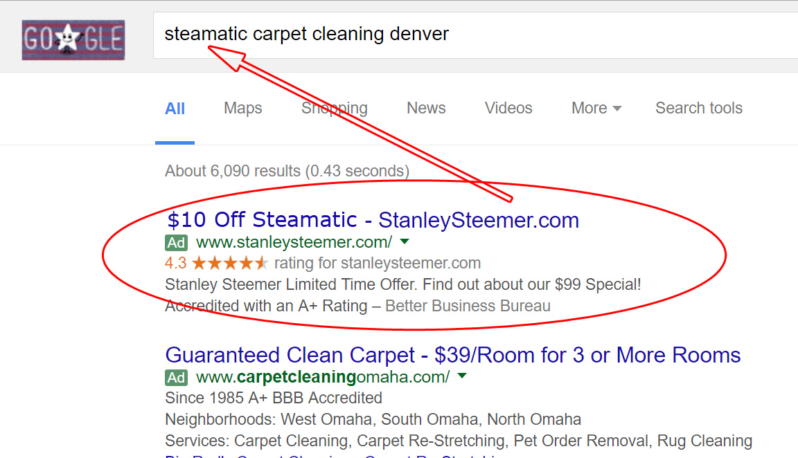 Google Search about Carpet Cleaner (2)