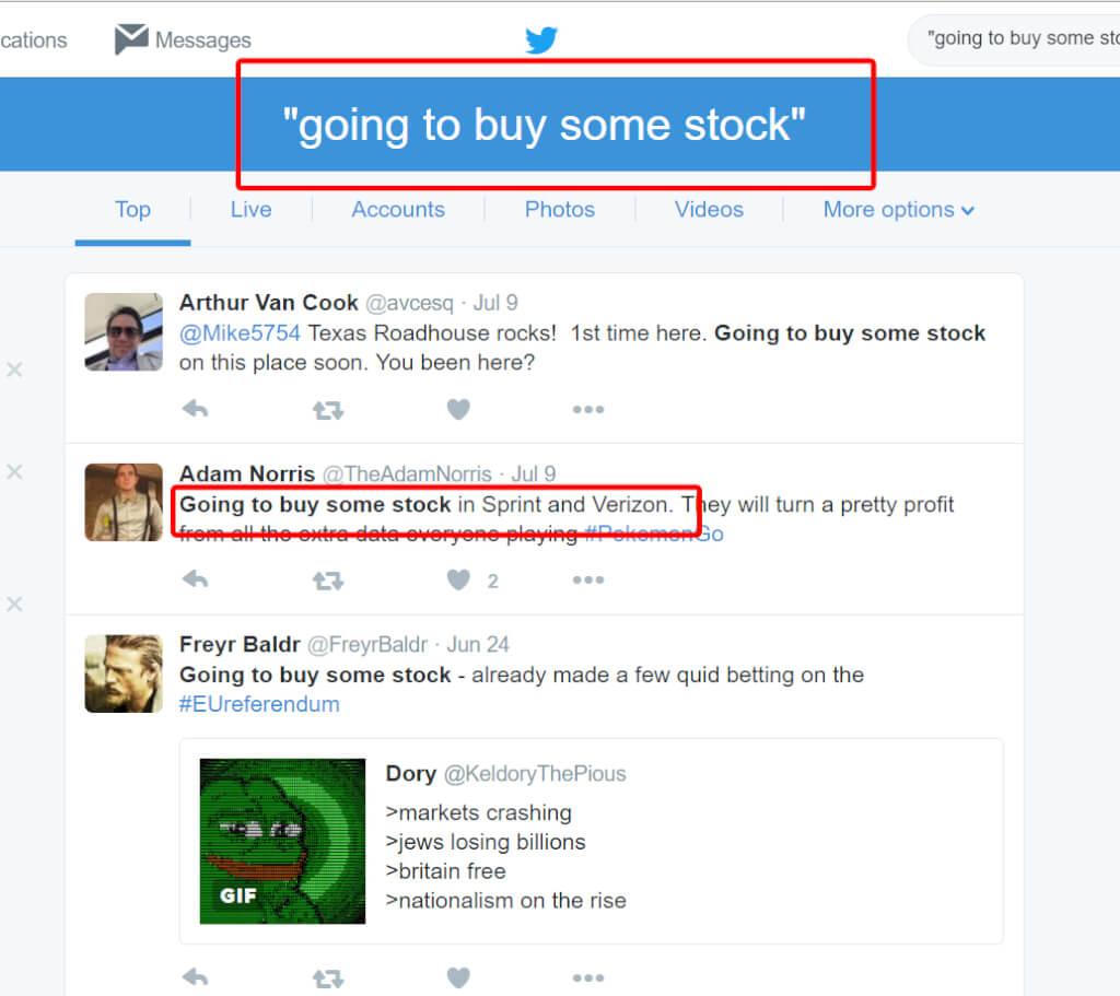 Using Keywords on Twitter (5)