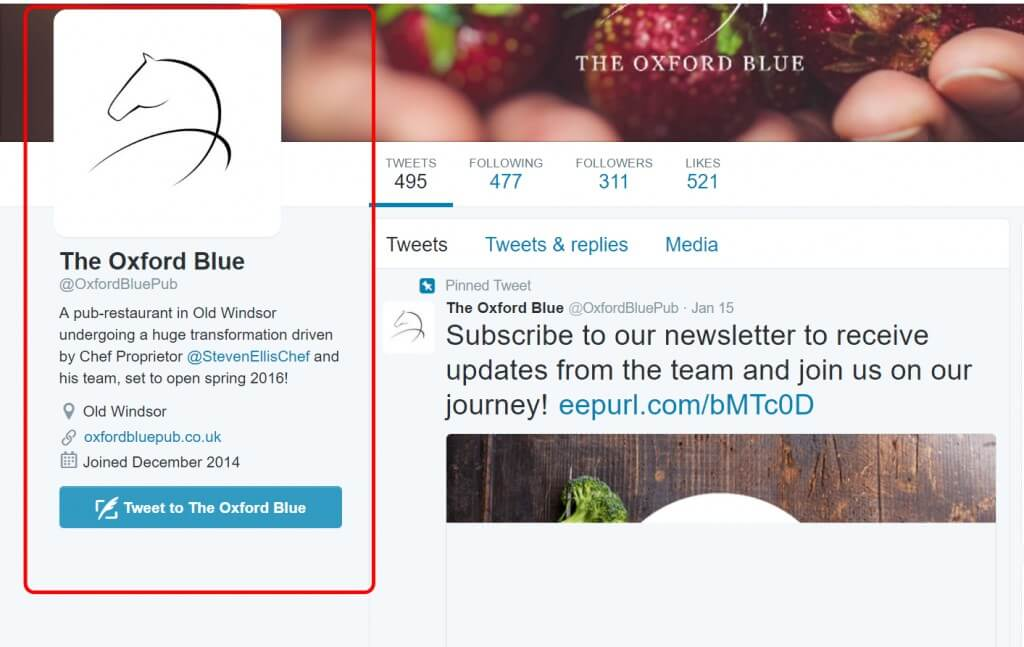 The Oxford Blue Twitter Page