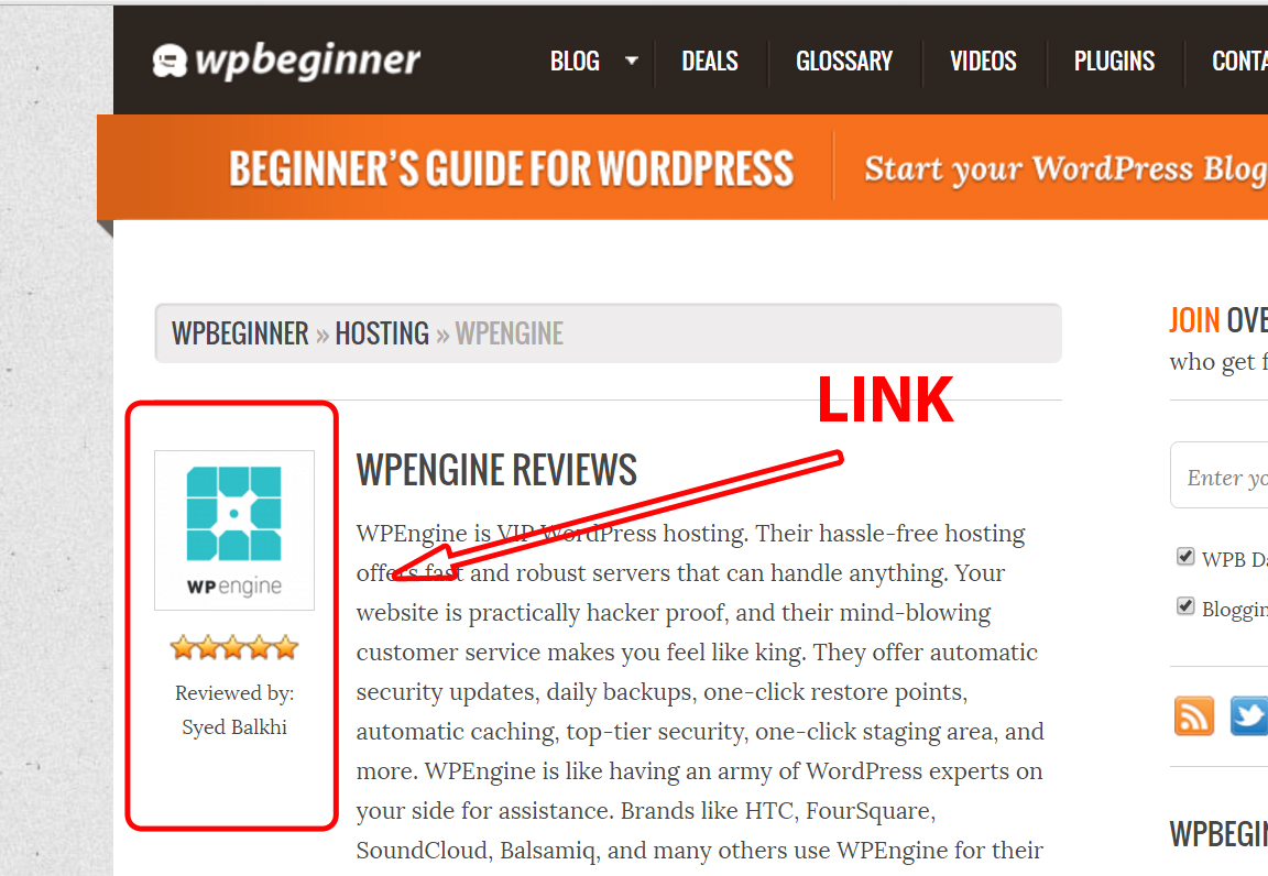 Last minute review seaches in wpbeginner