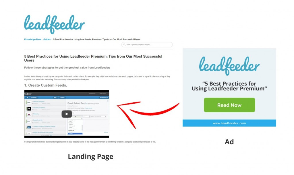 LeadFeeder landing page