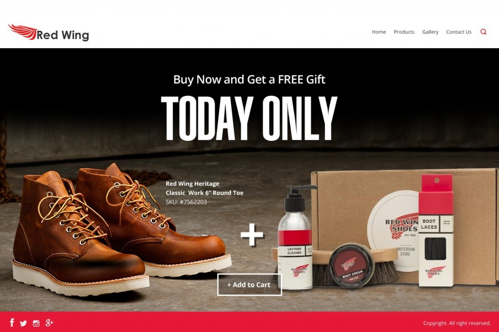 RedWing retail pricing scheme