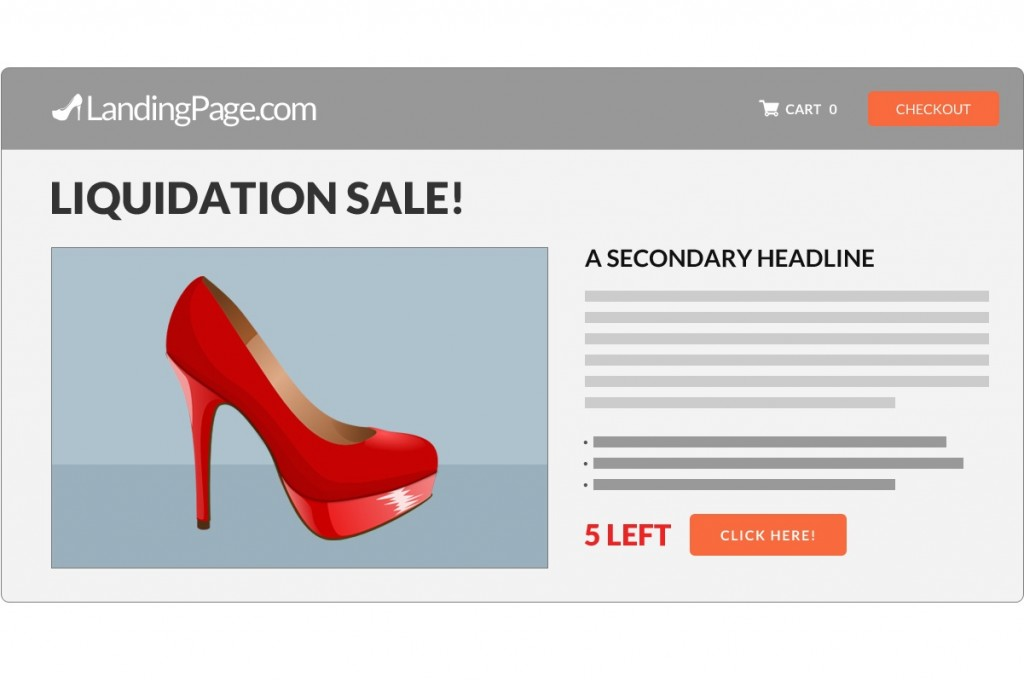 Liquidation Sale in LandingPage.com