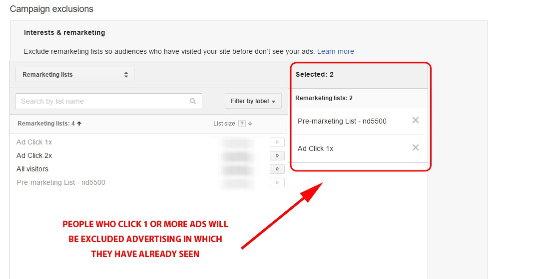 Segmenting Lists In Adwords