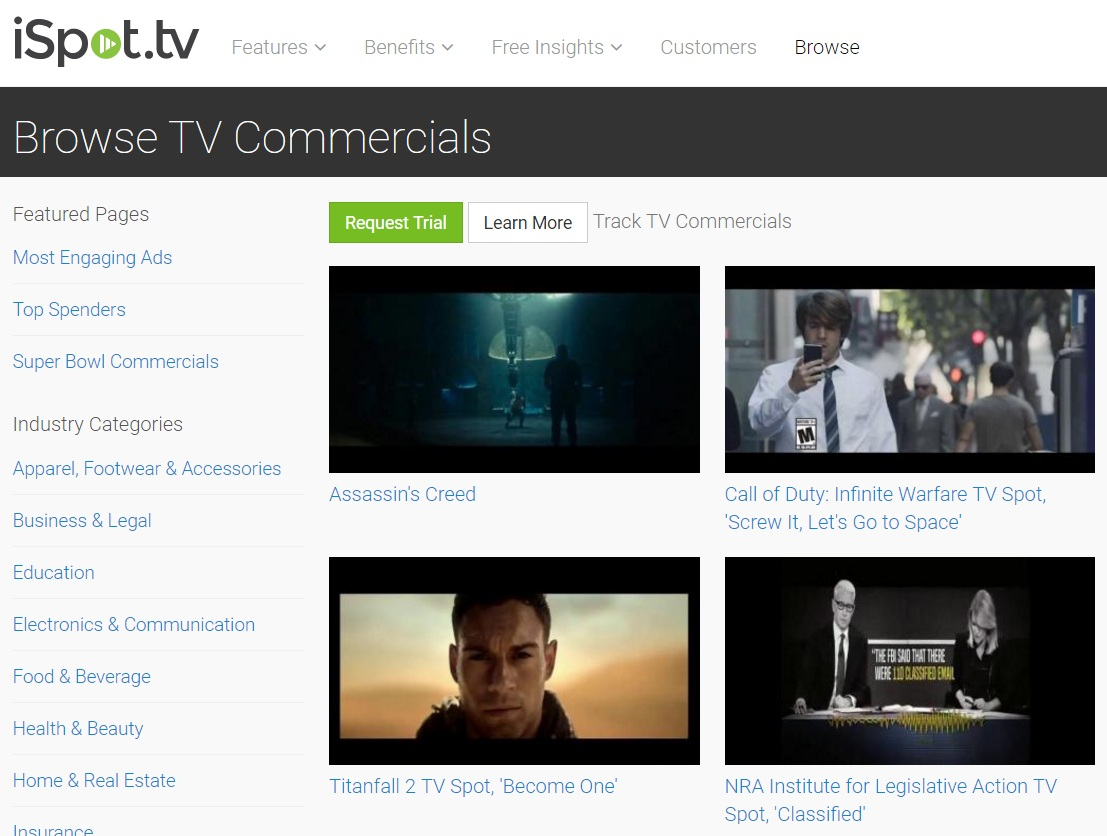 TV Commercial Spying on iSpot.tv