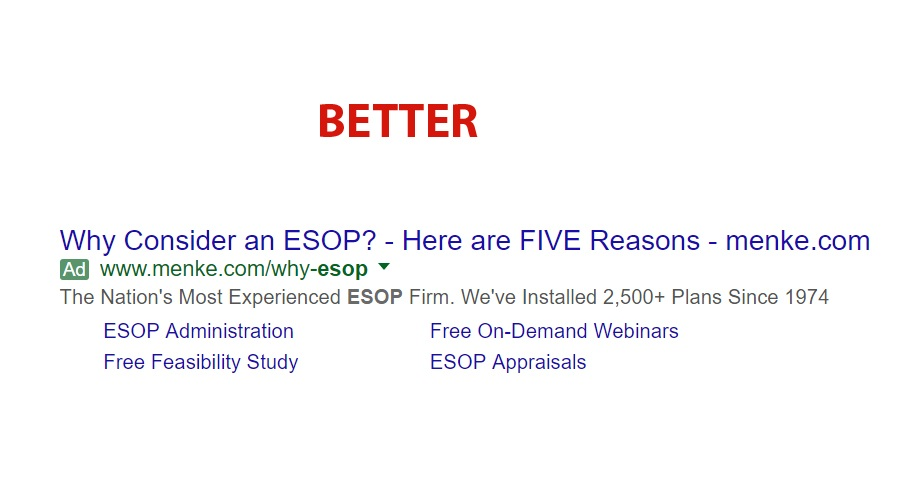 Google Search about why consider ESOP
