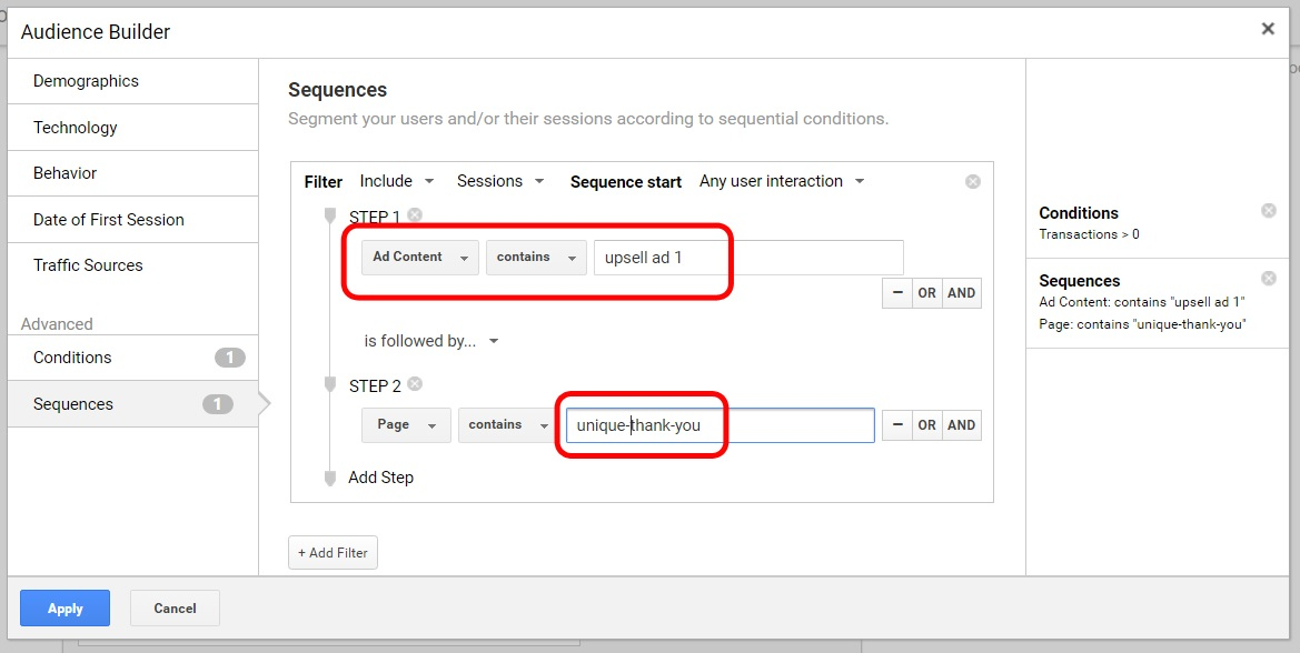 Sample for Google Analytics setup (2)