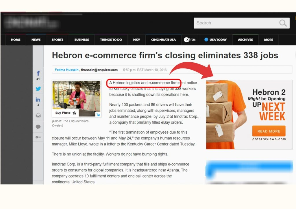 Articles about Hebron E commerce Firm