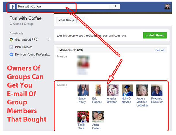 "Facebook Search ""Fun with coffee"" results"