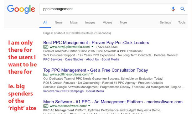 Google Search about PPC Management