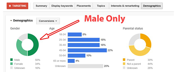 Demographic Date based on Male Customers