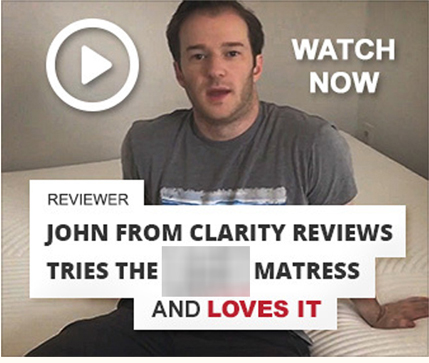 Video clip of a reviewer tries the mattress
