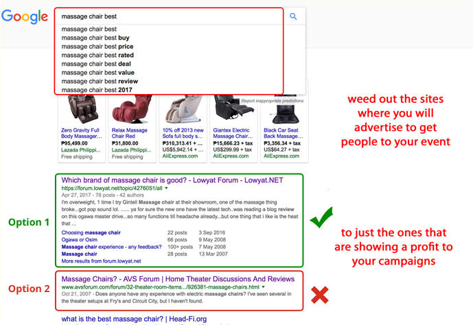 Google Ads search for Massage Chair(3)
