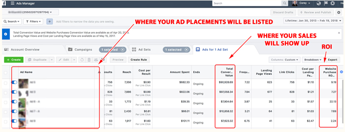 Uploading conversions from event to AdWords and Facebook accounts(4)